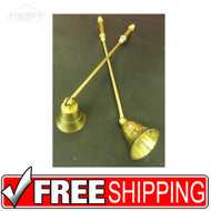 "Solid Brass | 11"" Candlestick Snuffers"