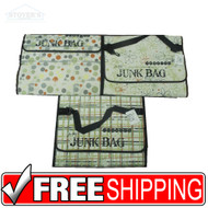 Lot of 3 Tim Holtz Large Junkitz Junk Bag Organizers Carry Totes Colorful