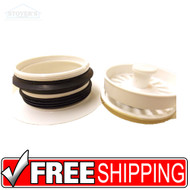Kitchen Sink Disposer Basket Strainer Assembly WHITE Flange & Stopper garbage