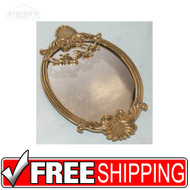 "VTG Brass Vanity Mirror Bird Seagulls Hollywood Regency 13"" x 8"""