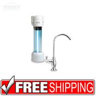 Zuvo Water Filtration, Model 150, Under Counter, Chrome Bora Bora faucet