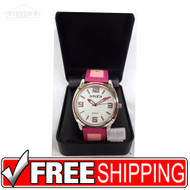 Women's Watch - Pink Band Gruen Silver