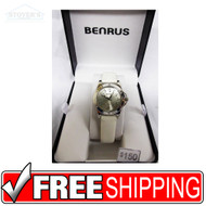 Women's Watch - Benrus Silver White Strap