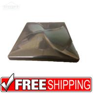 3x3 Deco | Nickel | Pin Wheel | Case of 20 | Metal Look | 181155000000