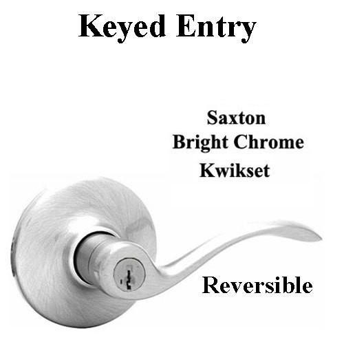 Kwikset Chrome Saxton 26d 405 Snl Keyed Entry Door Lock New In Box