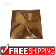 3x3 Deco | Copper | Pin Wheel | Case of 20 | Metal Look | 181155076084