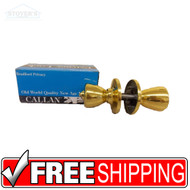 NEW Case of 20 Polished Brass Callan Bradford Privacy Lock Door Knob Lock Set