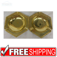Set of Vintage Hollywood Regency Solid Brass Cigarrette Ashtrays NEW 150900816030
