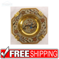 Vintage Hollywood Regency Brass Cigarrette Ashtray NEW