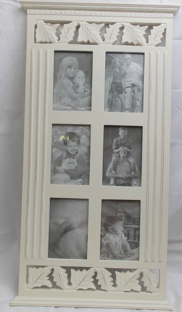 4 +6 photo picture frame collage white wood memories decorative ...