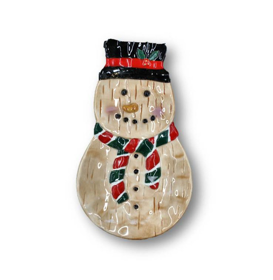 Christmas Ceramic Snowman Spoon Rest - Stover's Liquidation