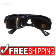 Sunglasses | Bulk of 1 Dozen | Black Plastic