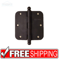 NEW in Box Pair of Oil Rubbed Bronze Bravura Door Hinges 3.5 x 3.5