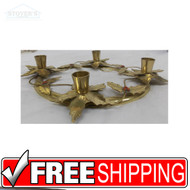 Vintage Brass Christmas Candlestick Holder