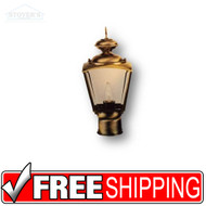 Post Lantern - 4009SB5VAB-8 - Brass