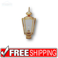 Post Lantern - 454103-8 - Brass Outdoor Light