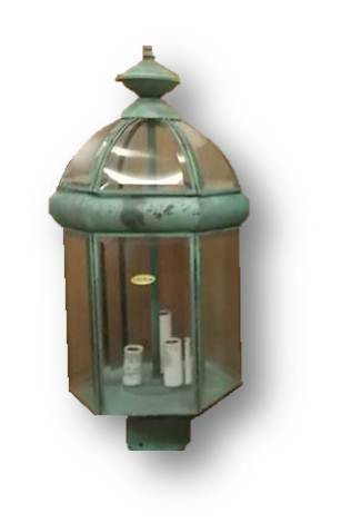 Outdoor light post lantern 431037 brass verde green stovers image 1 aloadofball Gallery