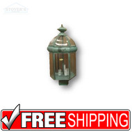 Outdoor Light Post Lantern - 431037 - Brass Verde Green