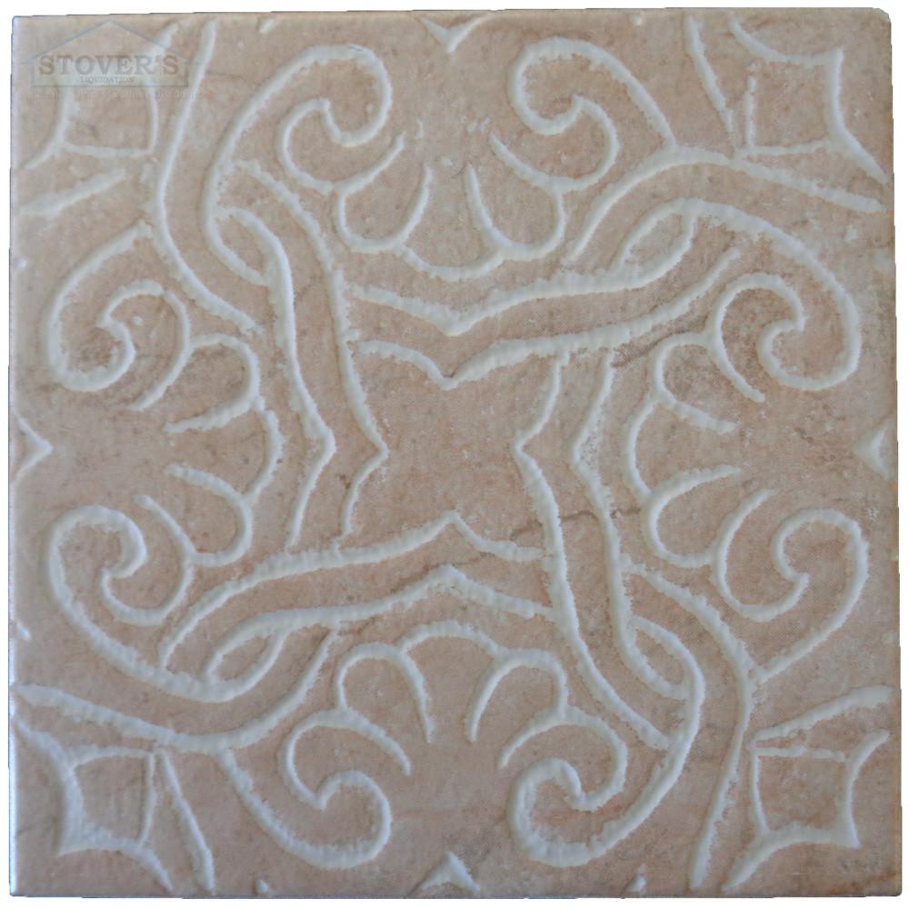6x6 Porcelain Deco Interceramic Set of 4