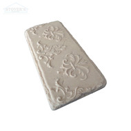 3x6 Deco | Metal Look Decos | Fleur D'Lis Brick Travertine | S2L170-01