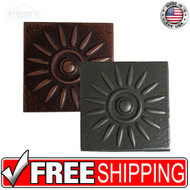 2x2 Deco | Metal Look Decos | Sun Medallion | TILE343020003