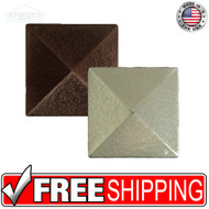 2x2 Deco | Metal Look Decos | Pyramid Dot | TILE471002001