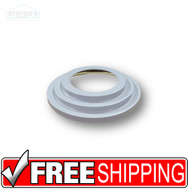 "Lighting Trim | 6"" Designer Trim Round Stepped Light White 