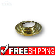 "Lighting Trim | 6"" Round Stepped Light Gold Trim 