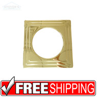 "Lighting Trim | 6"" Designer Trim: Square Stepped Light Gold 
