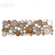 Elegant Pebbles 4x12 | Glass Deco | JC99157 | FOB Tennessee