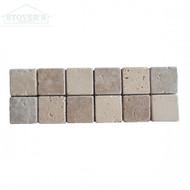 Chiaro Noce Checkerboard 4x12 | Stone Deco | 235561 | FOB Tennessee