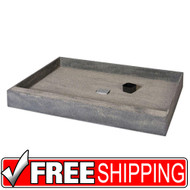 Shower Base | wedi | One Step Shower Base with Right Offset Drain | 36x60 | Free Shipping