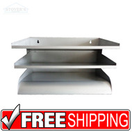 Steel File Sorter | Wall Mount File Paper Sorter | 3 Slot Tray | Free Shipping