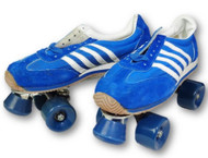 Blue and White Men's Vintage Roller Skates | Free Shipping