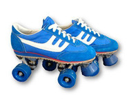 Blue and White Boy's Vintage Roller Skates | Free Shipping