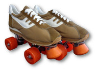 Coffee and White Boy's Vintage Roller Skates | Free Shipping