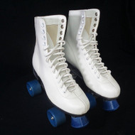 Tall White Leather Vintage Roller Skates |  Free Shipping