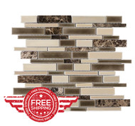 Cracked Lin Latte | Glass Mosaic | FOB TN | FREE SHIPPING