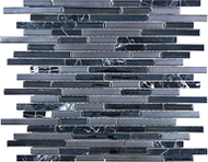 "12""x 15"" Indigo Porcelain Stone Strip | Mosaic | FOB TN |"