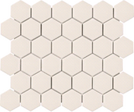 "2"" Metro Biscuit Matte Hexagon Porcelain Mosaics | Glass Mosaic | FOB TN |"