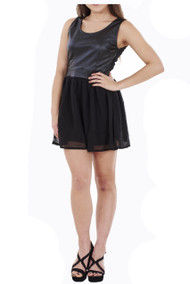 Paula PU Skater Dress luv2nv