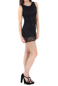 Bianca Black Sleeveless Lace Dress luv2nv