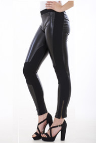 Veronica Leather Look Pannel Leggings luv2nv