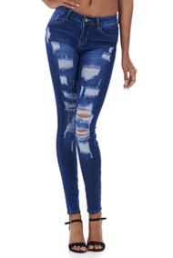 Caprice Distressed Super Skinny Jeans Luv2nv