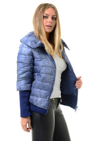 Blue Puffer Jacket, Puffer Jacket, Blue Winter Puffer Jacket, Luv2nv Coats & Jackets,