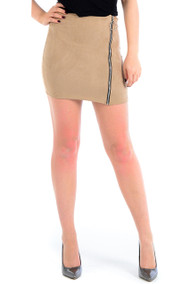 Carly Suedette Mini Skirt