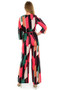 Angel Cross Over Belted Jumpsuit ,  Ladies Jumpsuit, Ladies Cross Over Jumpsuit,  Ladies Aztec Print Jumpsuit,  Ladies All In One Jumpsuit,  Luv2nv  Jumpsuits,