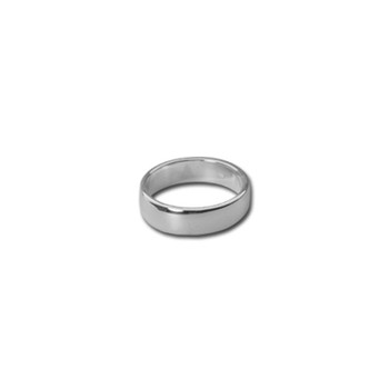 4 mm Silver Band Ring Nickel and Suede