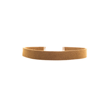 Camel Leather Choker Nickel and Suede
