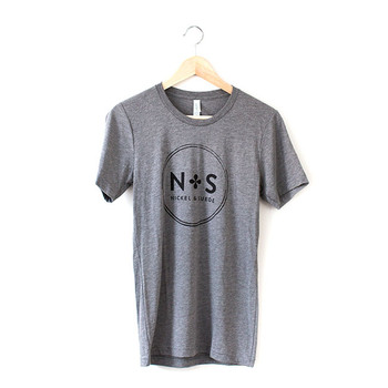 Unisex/Men's N&S Gray Vintage Tee